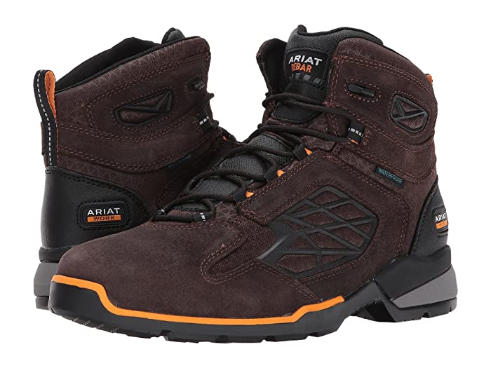 Ariat  Rebar Flex 6 Waterproof Soft Toe (Chocolate Brown) Mens Lace-up Boots