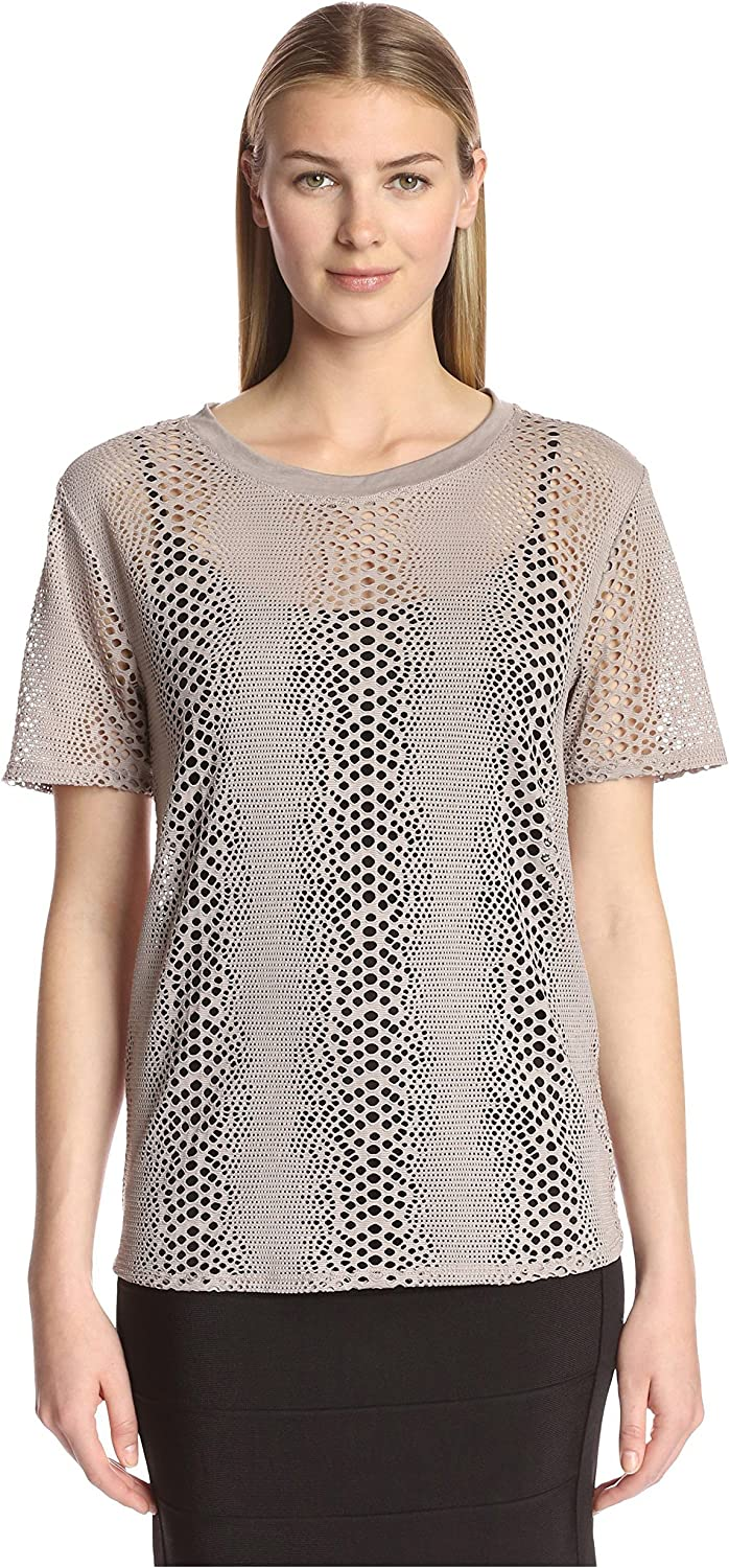 Twenty Tees Women's Boa Perforated Tee
