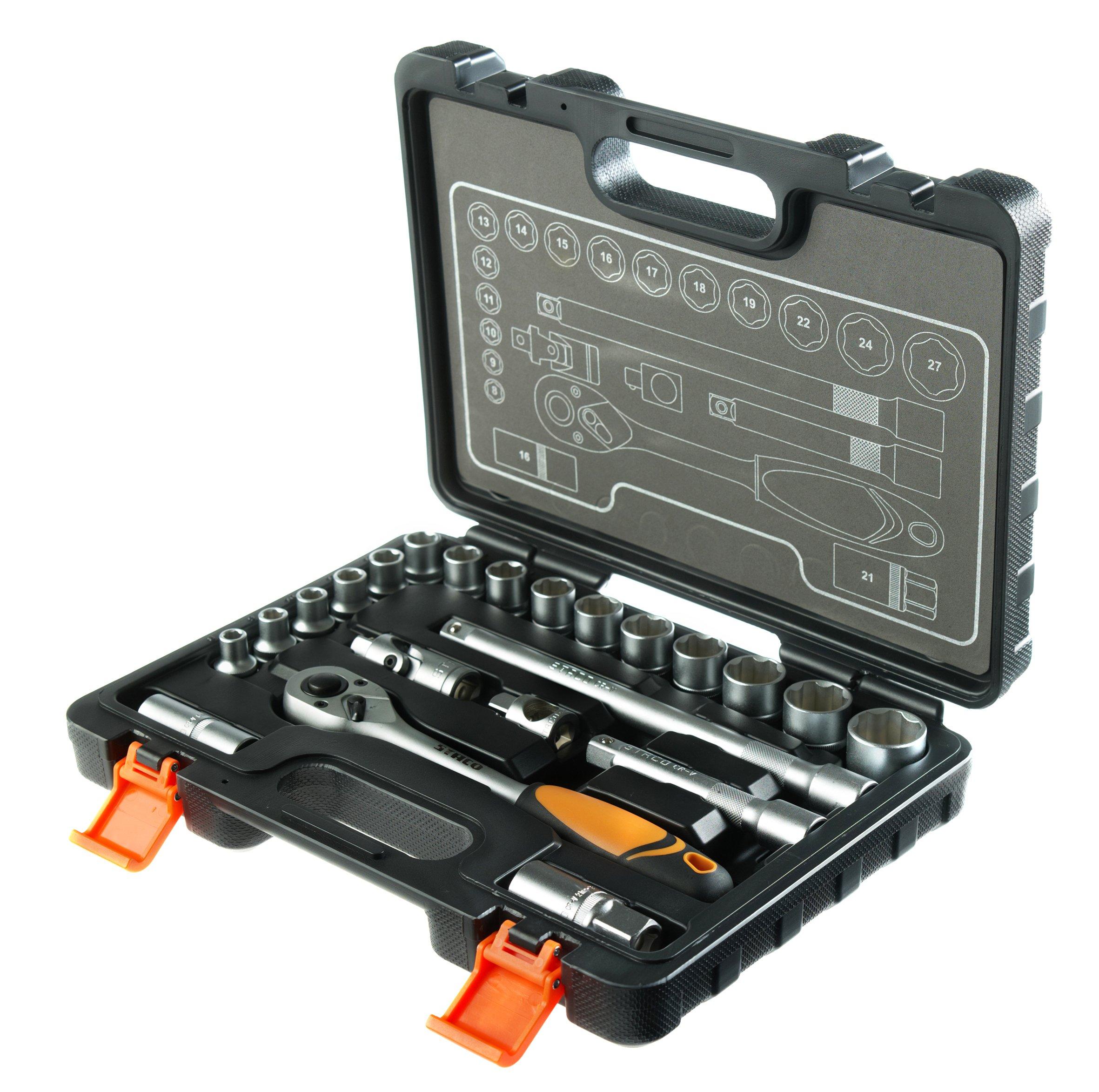 STACO 63022 - Juego de herramientas (llaves de vaso y carraca, 1/2 pulgada): Amazon.es: Bricolaje y herramientas