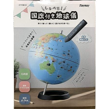 レイメイ藤井 地球儀 しゃべる国旗付地球儀 25cm タッチペン付