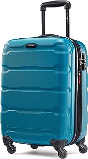 حقيبة سامسونايت أومني ذات الجانب الصلب القابلة للتوسيع مع عجلات دوارة، أزرق كاريبي، محمولة 50.8 سم