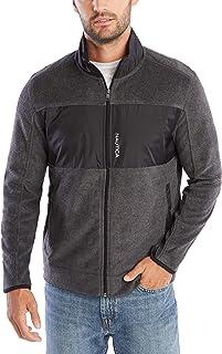 NAUTICA Men's Full-Zip Mock Neck Fleece Sweatshirt