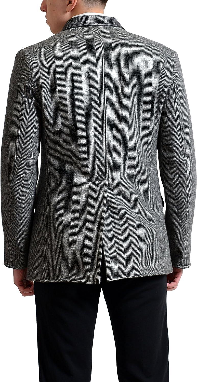 Dolce & Gabbana Men's 100% Wool Reversible Blazer Sport Coat US 38 IT 48 Gray