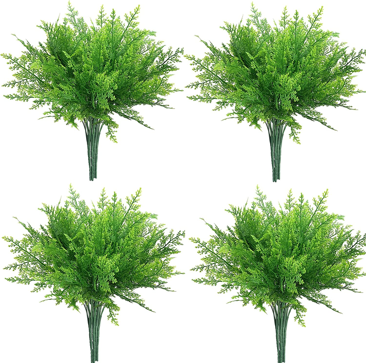 12 Ultra-Cheap Deals Max 55% OFF Bunches Artificial Ferns for Plants Outdoors Fake PASYOU Plas