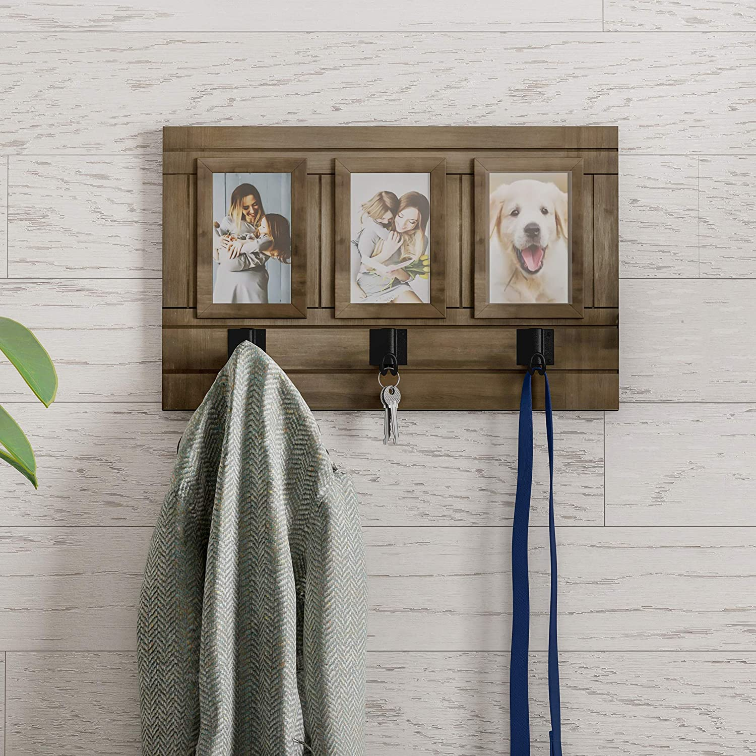 Home Max 54% OFF Max 51% OFF Collage with 3 Hanging Hooks-Wall Decor Frame Mounted Photo