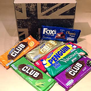 The British Favourite Biscuit Bars Collection Gift Box - Top 7 Best Selling Biscuit Bars - Selection Of Favourite Biscuit Bars – Fox's Classic Original, Club Orange, Mint & Fruit, Penguin, Viscount an