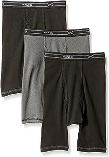 بوكسر رجالي Hanes 3-Pack X-Temp مريح ورائع ذو أرجل طويلة