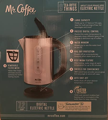 discount Mr. lowest Coffee lowest BVMC-EKVT100 Coffemaker,eleckett,1.7l,ss sale
