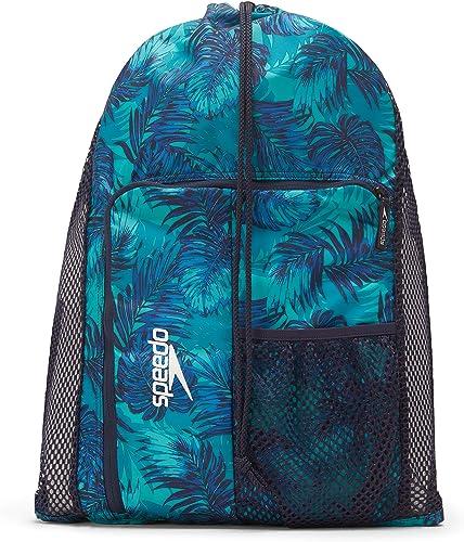 Speedo Unisex-Adult Deluxe Ventilator Mesh Equipment Bag, Shady Palms