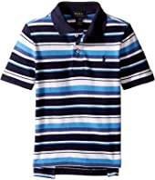 Polo Ralph Lauren Kids - Yarn-Dyed Basic Mesh Short Sleeve Knit Collar Top (Toddler)