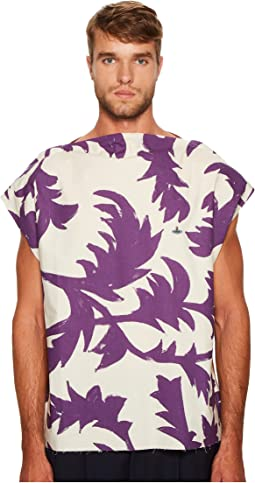 Vivienne Westwood - Purple Leaves Square T-Shirt