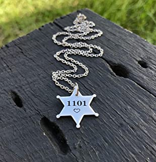 Sheriff's Badge Necklace   Law Enforcement Necklace   Police Officer's Wife Jewelry Gift   Law Enforcement Gift   Sheriff's Badge Gift