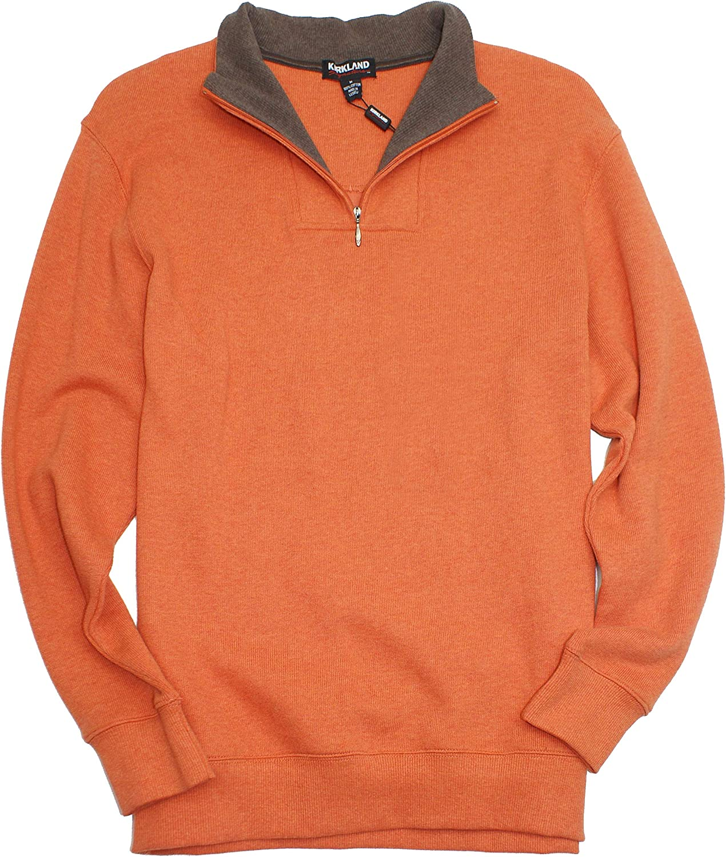 Kirkland Signature Men's 100% Cotton 1/4 Zip Pullover