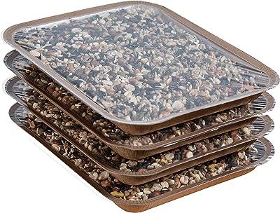 Mr. Canary Refill En-Trays, 4PK, EveryBirdy Loves It Blend Bird Seed Trays, Easy Bird Feeder Refills