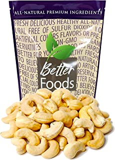 Raw Cashews 22 oz (Whole, Unsalted, No Shell, All Natural, Non-GMO, In Resealable Bag, Nutrient Dense Low Carb High Fat Snack) - 1 Pack