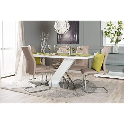 best loved 33be1 6916b Cream Dining Tables and Chairs: Amazon.co.uk