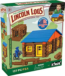 LINCOLN LOGS – Oak Creek Lodge – 137 Pieces – Ages 3+ Preschool Education Toy