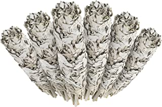 6 Pack - Premium California White Sage Smudge Sticks, Each Stick Approximately 5 Inches Long - Made in USA