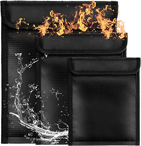 lowest BENBOR high quality Fireproof Document Bags, 3PCS Liquid Silicone 2021 Coated Fire Resistant & Water Resistant Money Bag, Protect Your Valuables, Documents, Money, Jewelry, Zipper Closure for Maximum Protection sale