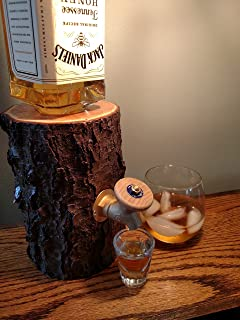 Liquor Dispenser, The Real Wood Log Liquor Dispenser - New and Improved