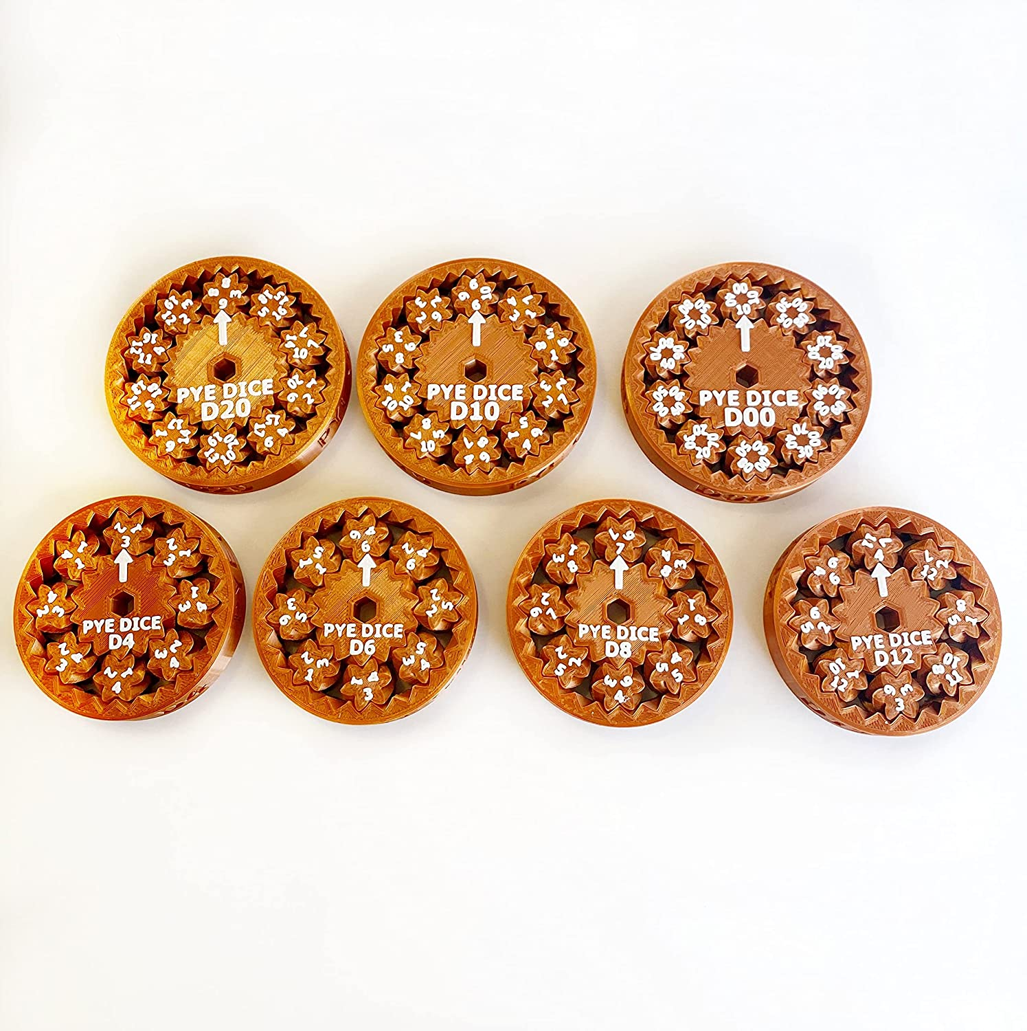 7-Piece Spin Max 43% OFF At the price Dice Copper Set: