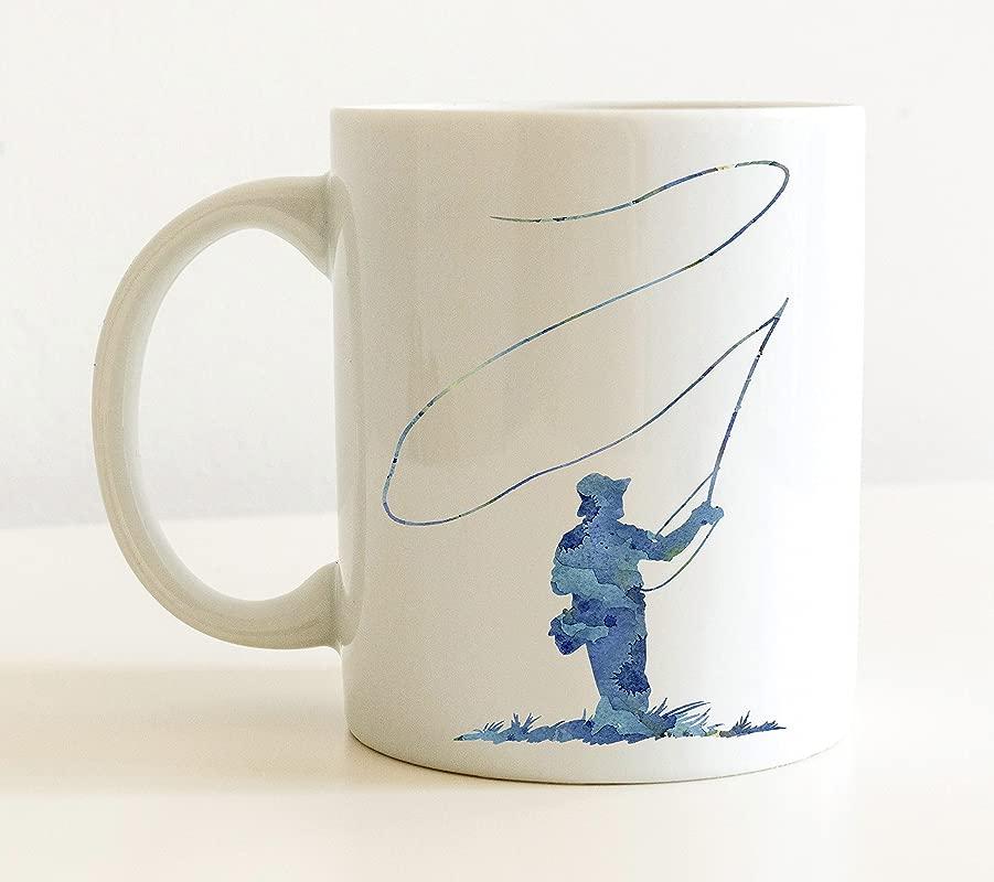 Fly Fishing Mug Fly Fishing Lover Coffee Mug 11oz Unique Fly Fishing Gift