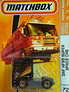Matchbox Highway Maintenance Series #72 DAF XF95 Space Cab Semi-Tractor Truck Black Detailed Diecast Scale 1/64 Collector