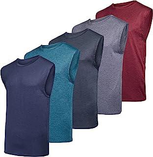 عبوة من 5 أساسيات حقيقة: قميص بدون أكمام رياضي شبكي للرجال - ملابس رياضية للتمرين والتدريب