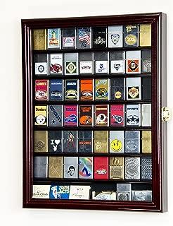 sfDisplay.com, Factory Direct Display Cases 56 Zippo Lighter Display Case Cabinet Holder Wall Rack -Cherry