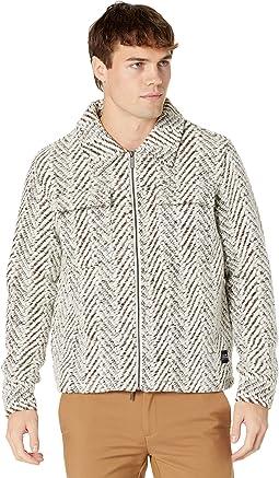 Silas Brushed Wool Chevron Jacket