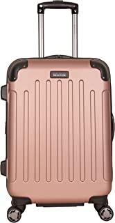 """Kenneth Cole Reaction Renegade 20"""" ABS Expandable 8-Wheel Carry-On, Rose Gold, inch"""