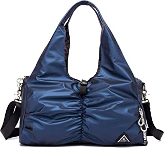 Sports Duffel Bag, Waterproof Athletic Gym Bag with Shoe Compartment (Blue)