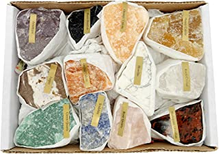 Natural Gemstone Mix 1.5-2 lbs Full Box Approx. 10-15 Pieces - Mixed Gemstone Clusters - Rough Stones Crystals