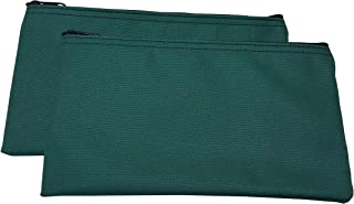 Zipper Bags Poly Cloth Value Package of 2 Bags (Forest Green)