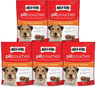 Milk-Bone Pill Pouches, Approx. 125 Pill Treats for Dogs to Conceal Medication