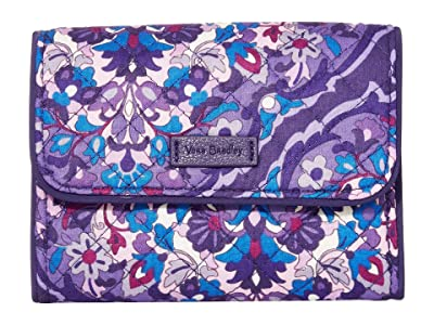 Vera Bradley Iconic RFID Riley Compact Wallet (Regal Rosette) Wallet Handbags