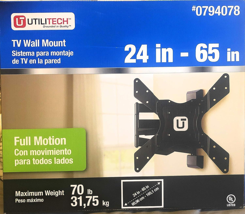 "Utilitech Full Motion TV 贈答品 Wall Mount 受賞店 24""-65"""