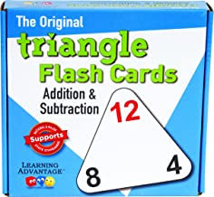 Learning Advantage 4551 The Original Triangle Flash Cards, Addition and Subtraction, Grade: Kindergarten to 4, 6.5