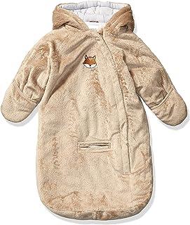 Carter's Baby Girls Bundle Up Cozy Pram with Ears, Khaki Dear Bag, 0/6 Months