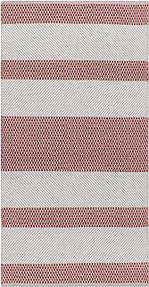 Vallila Vilho cotton runner 80x150 cm, beige red, 150 x 1 x 80 cm