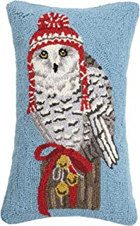 Mary Lake Thompson Winter Owl with Hoody Hook, 12x20 Holiday Pillow