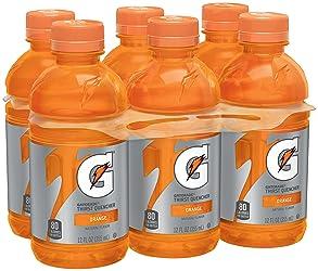 Gatorade Thirst Quencher, Orange, 12 Fl Oz, Pack of 6
