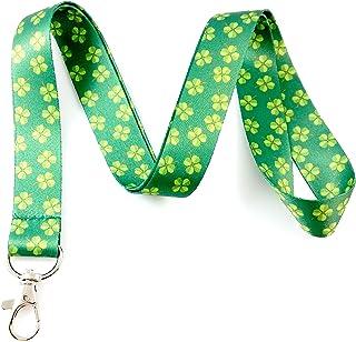 irlandais sur le thème Lanyard Porte-clés badge d'identification support Shamrocks