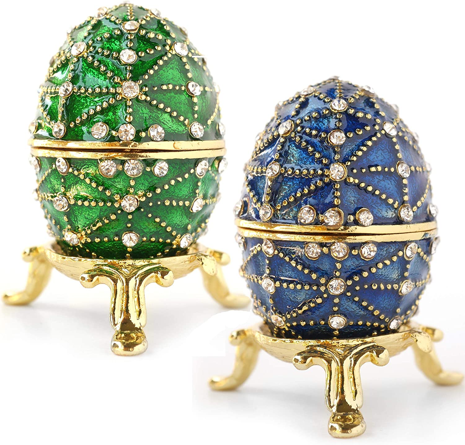Hand-Painted Vintage Style Mini Max 47% OFF Faberge with Minneapolis Mall Rich Spa Enamel Egg