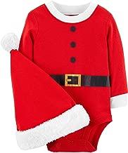 Carter's Baby 2-Piece Santa Bodysuit and Hat Set
