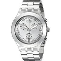 Swatch Full-Blooded Silver Chronograph Unisex Watch