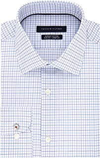 Tommy Hilfiger Men's Dress Shirt Slim Fit Stretch Check