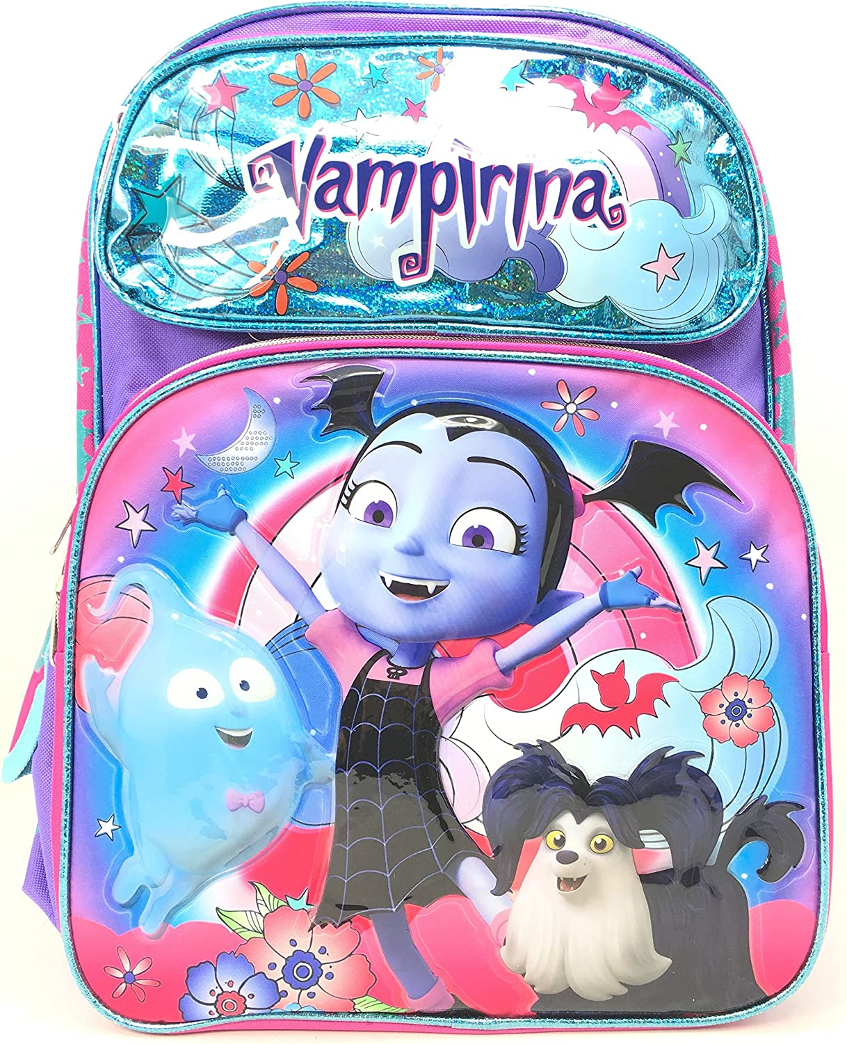 Vampirina Backpack Shiny bluee w Friedns 16  School Bag 151676