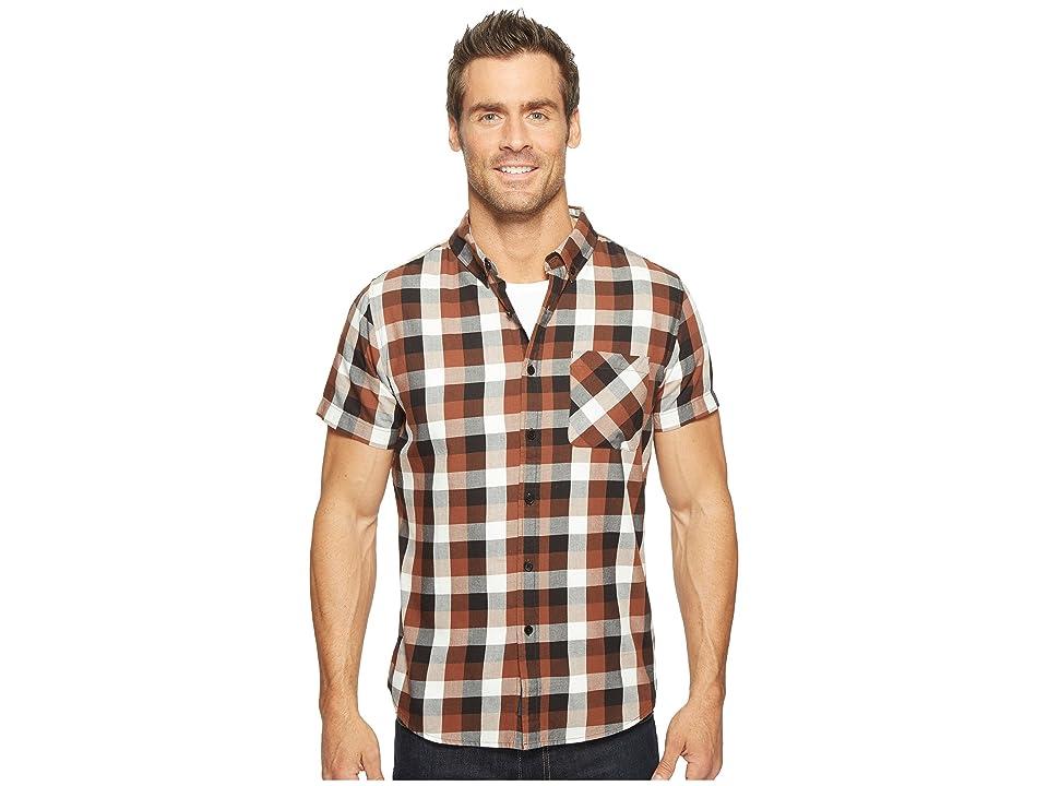 United By Blue Short Sleeve Everett Plaid Shirt (Brown/Black) Men