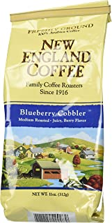 New England Ground Coffee, Blueberry Cobbler, 11oz Bag (Pack of 3)